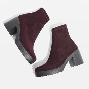 Topshop Brick Knitted Sock Boot